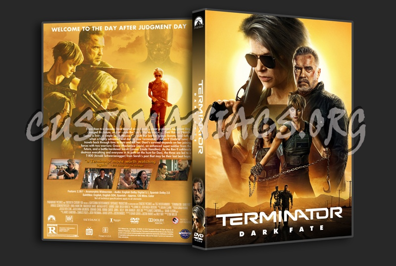Terminator: Dark Fate dvd cover