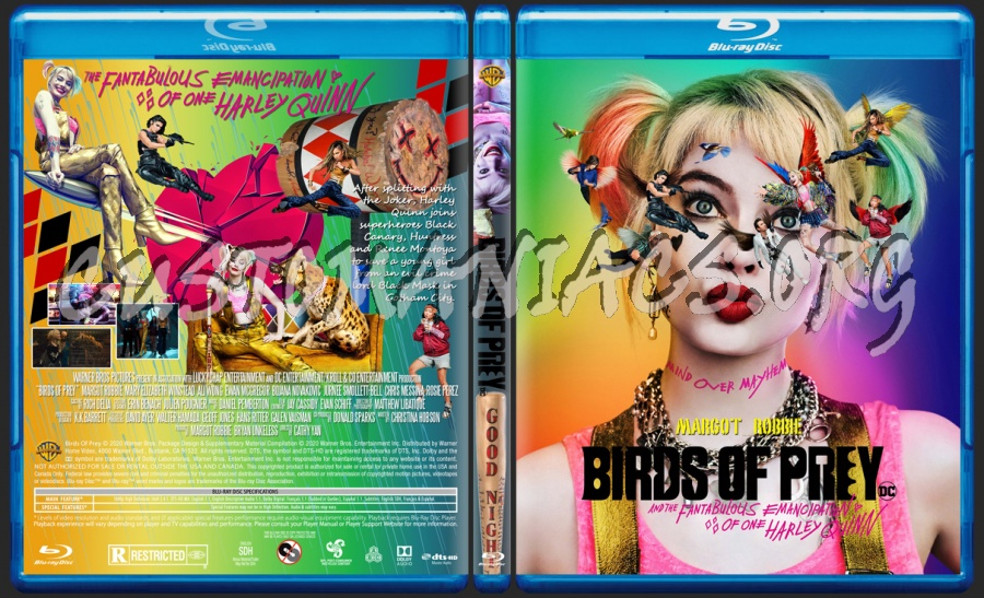 Birds Of Prey 2020 Blu Ray Cover Dvd Covers Labels By Customaniacs Id 259253 Free Download Highres Blu Ray Cover