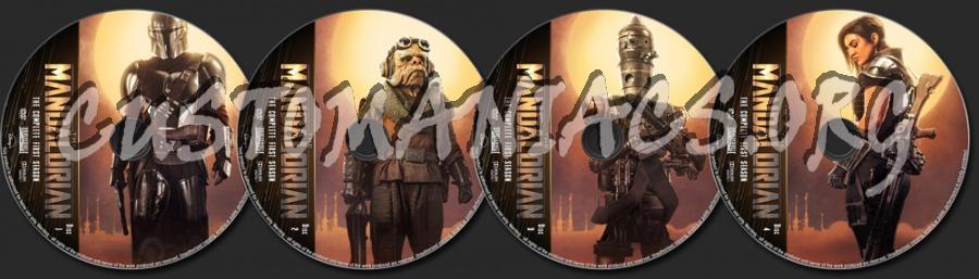 The Mandalorian Season 1 dvd label