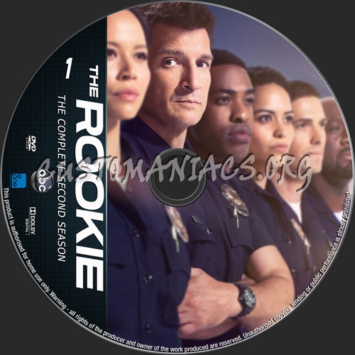 The Rookie Season 2 dvd label
