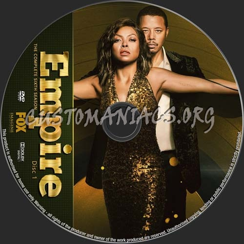 Empire Season 6 dvd label