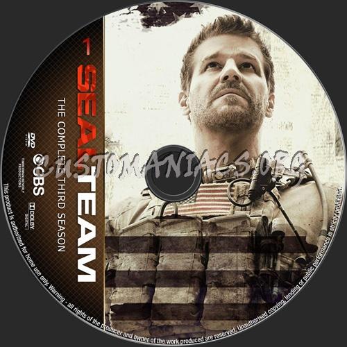 Seal Team Season 3 dvd label
