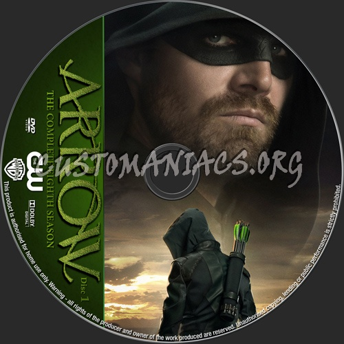 Arrow Season 8 dvd label