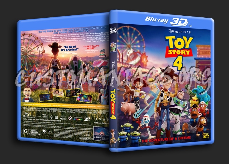 Toy Story 4 3D blu-ray cover