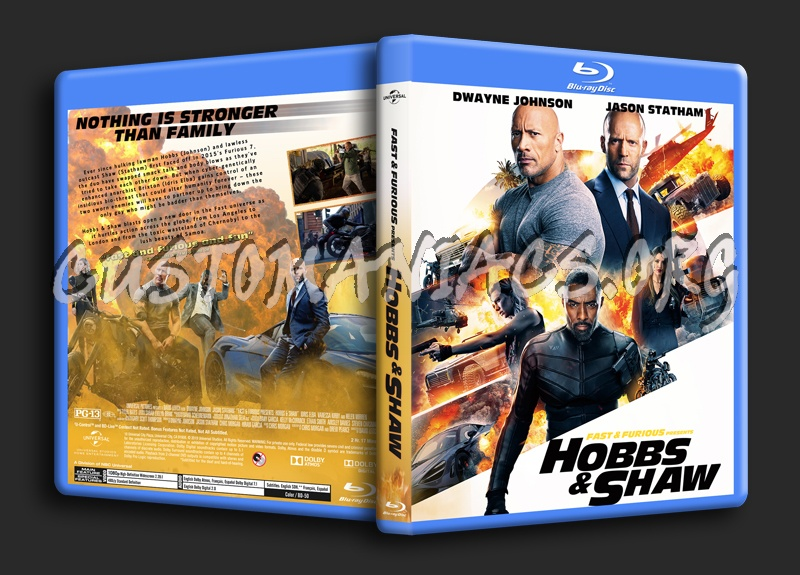 Fast & Furious Presents Hobbs & Shaw blu-ray cover