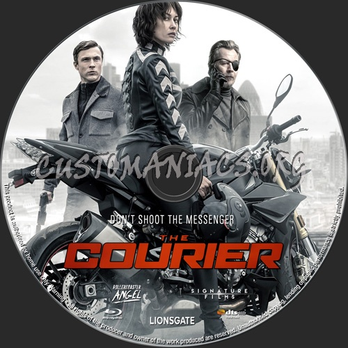 The Courier 2019 blu-ray label