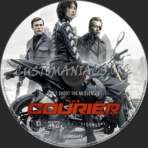The Courier 2019 dvd label