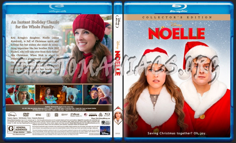 Noelle (2019) blu-ray cover