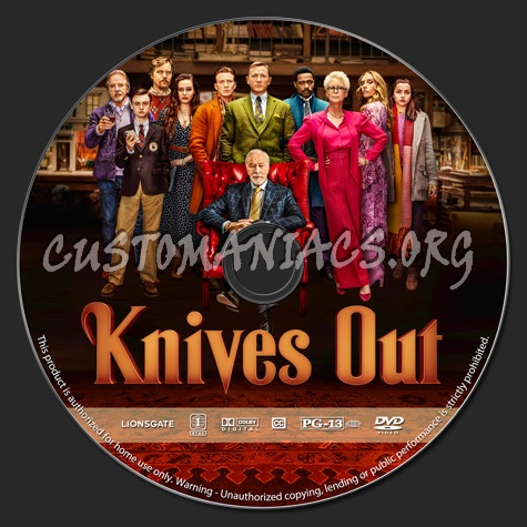 Knives Out dvd label