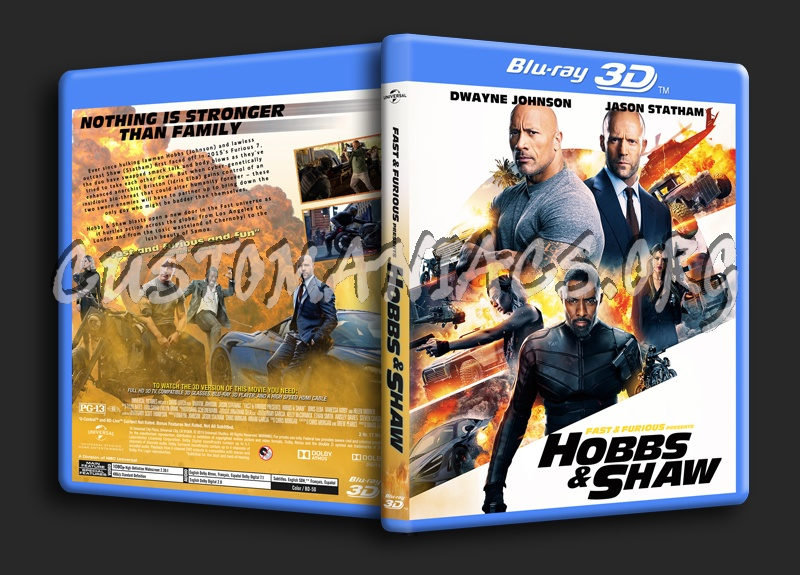 Fast & Furious Presents Hobbs & Shaw 3D blu-ray cover