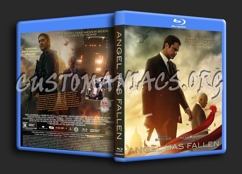 Angel Has Fallen blu-ray cover