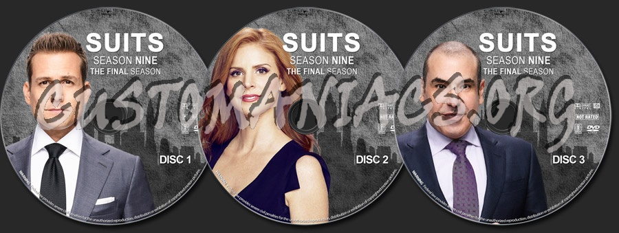Suits - Season 9 dvd label