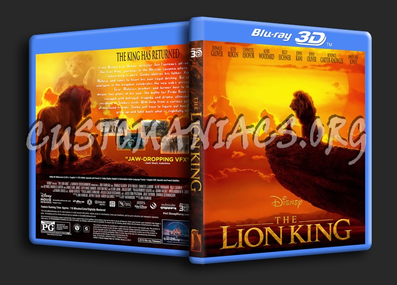 The Lion King 2019 3D blu-ray cover