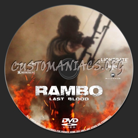 Rambo: Last Blood dvd label