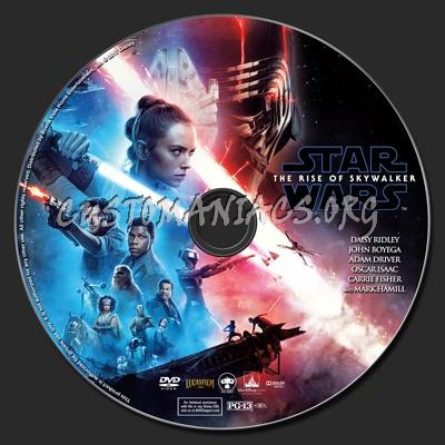 Star Wars: The Rise Of Skywalker dvd label