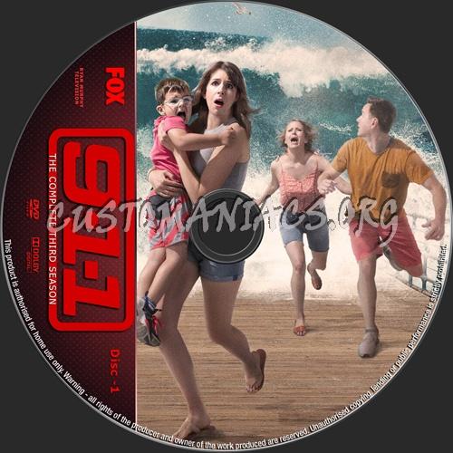 9-1-1 Season 3 dvd label