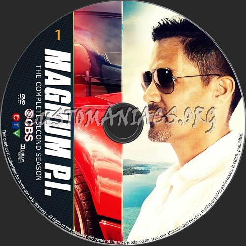 Magnum PI Season 2 dvd label