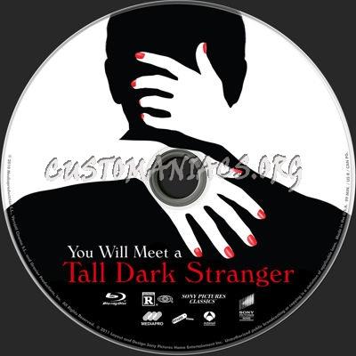 You Will Meet a Tall Dark Stranger blu-ray label