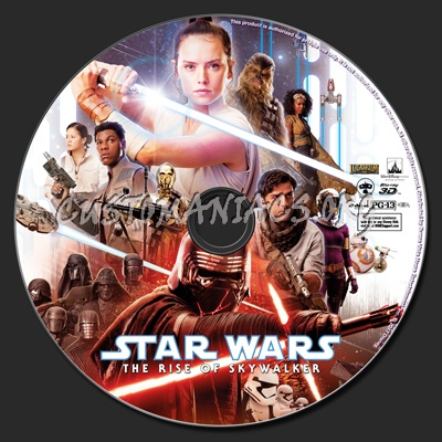 Star Wars: The Rise Of Skywalker (2D & 3D) blu-ray label