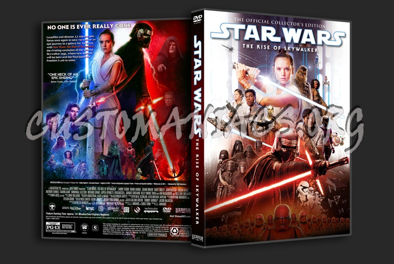 Star Wars: The Rise Of Skywalker dvd cover