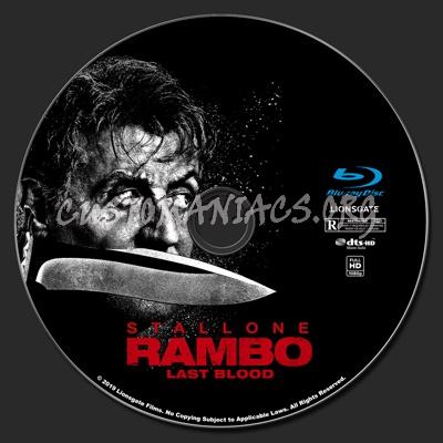 Rambo Last Blood blu-ray label