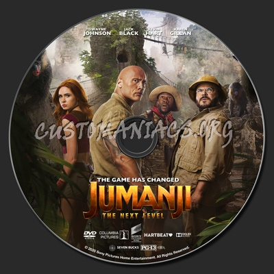 Jumanji: The Next Level dvd label