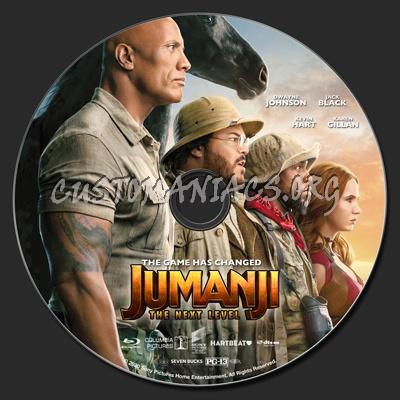 Jumanji: The Next Level (2D & 3D) blu-ray label