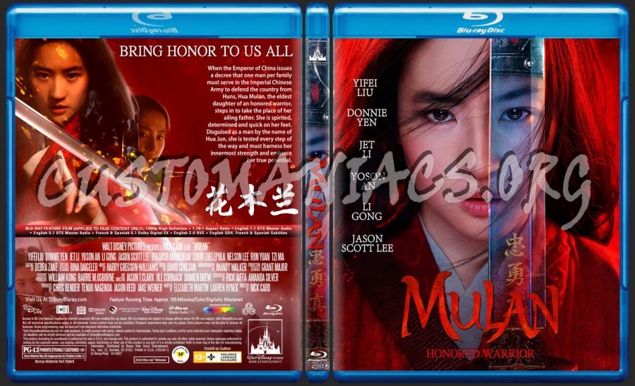 Mulan 2020 blu-ray cover