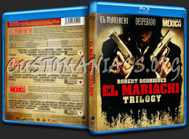 El Mariachi Trilogy blu-ray cover