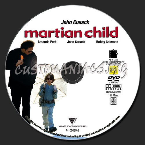 Martian Child dvd label