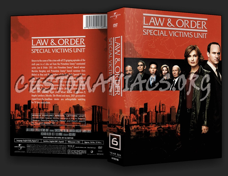 Law and Order - Special Victims Unit Series 6 dvd cover