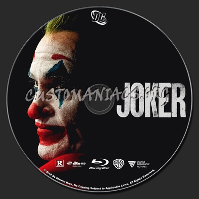 Joker blu-ray label
