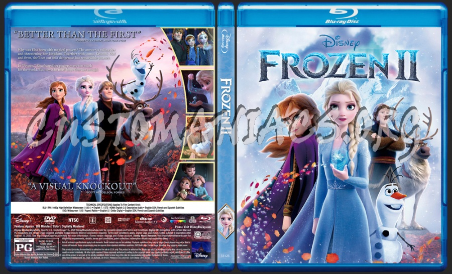 Frozen 2 blu-ray cover
