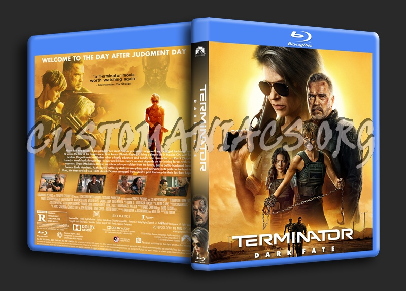 Terminator: Dark Fate blu-ray cover