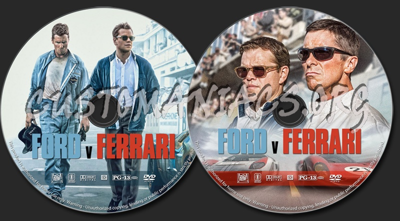Ford V Ferrari Dvd Label Dvd Covers Labels By Customaniacs Id 260247 Free Download Highres Dvd Label