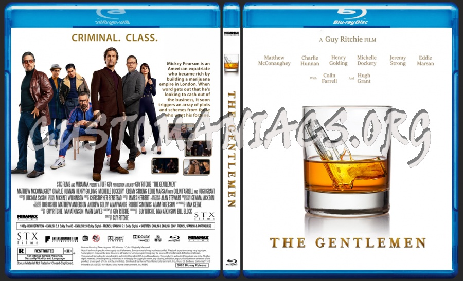 The Gentlemen blu-ray cover