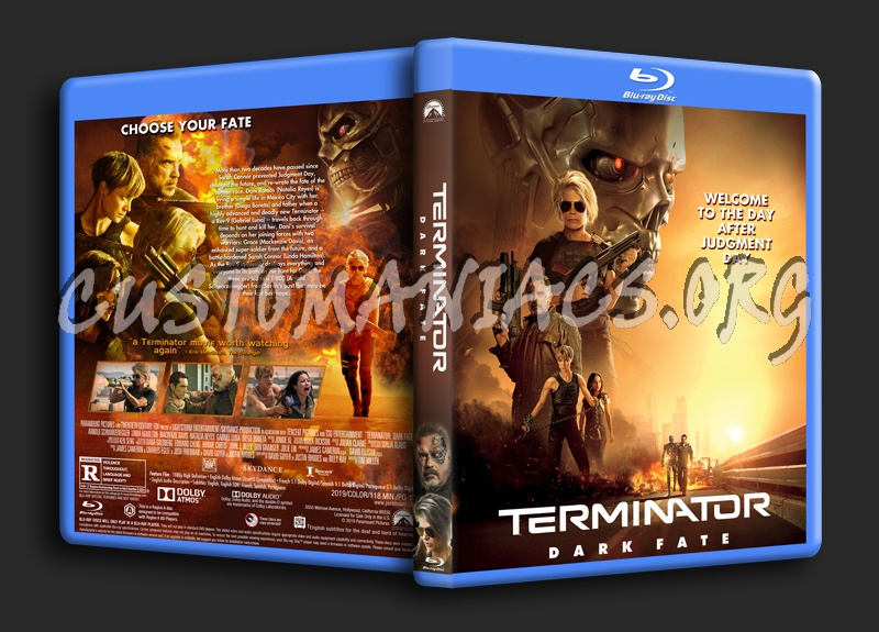 Terminator: Dark Fate blu-ray cover