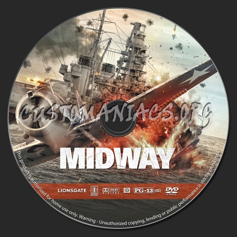 Midway (2019) dvd label