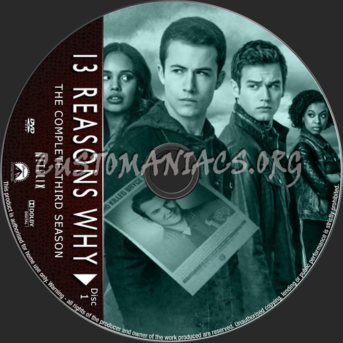 13 Reasons Why Season 3 dvd label