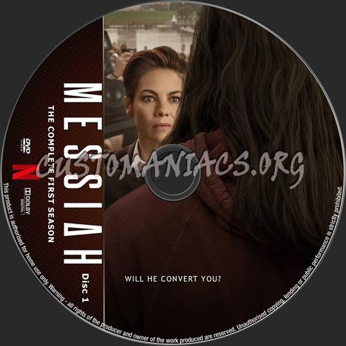 Messiah Season 1 dvd label
