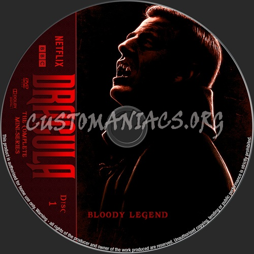 Dracula (2020) Mini-Series dvd label