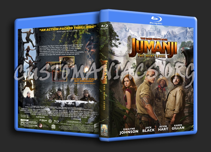 Jumanji: The Next Level blu-ray cover