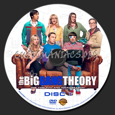 The Big Bang Theory Season 12 dvd label