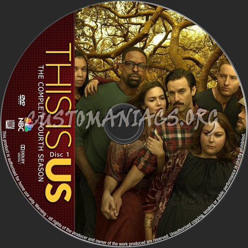 This Is Us Season 4 dvd label