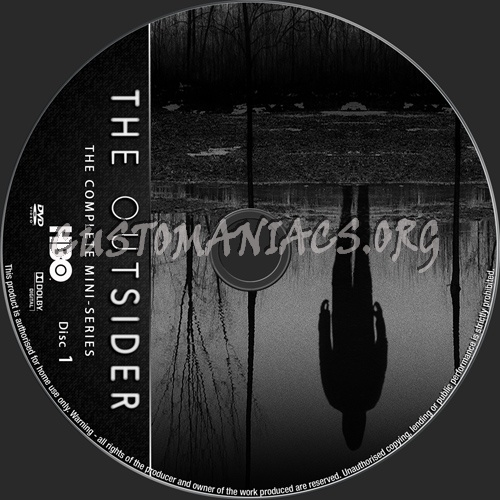 The Outsider Mini-Series dvd label