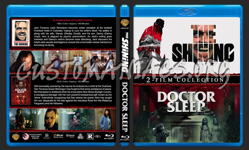 The Shining / Doctor Sleep Double Feature blu-ray cover