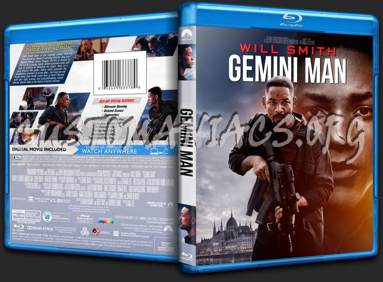 Gemini Man (2019) blu-ray cover