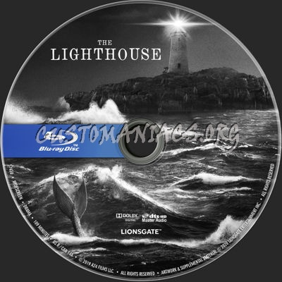 The Lighthouse (2019) blu-ray label