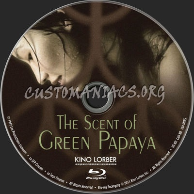 The Scent of Green Papaya (1992) blu-ray label