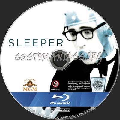 Sleeper (1973) blu-ray label